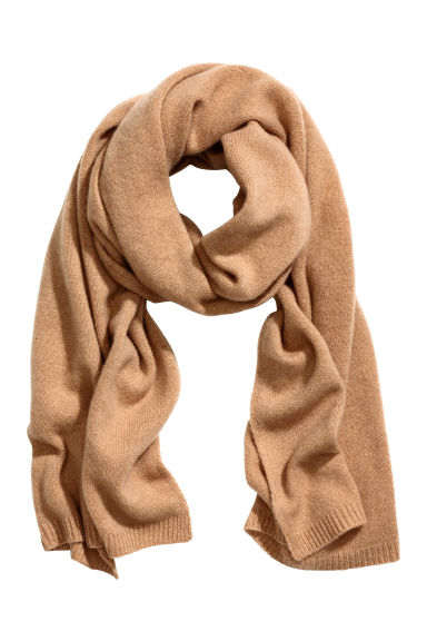 Cashmere scarf - Camel - Ladies | H&M IE