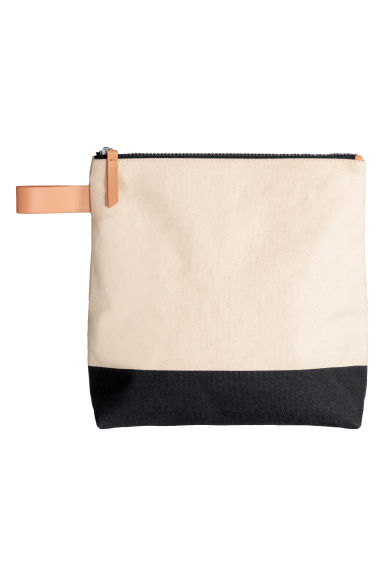 Canvas wash bag - Black/White - Ladies | H&M GB