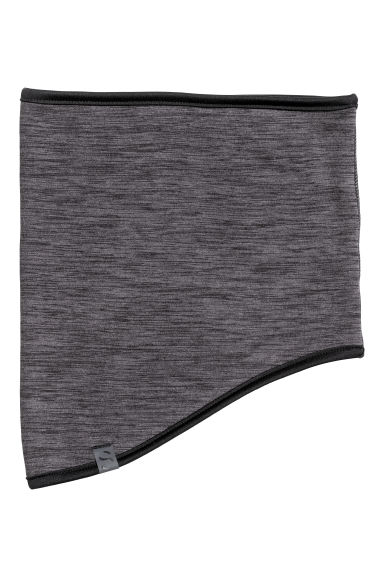 Fleece tube scarf - Black marl - Men | H&M