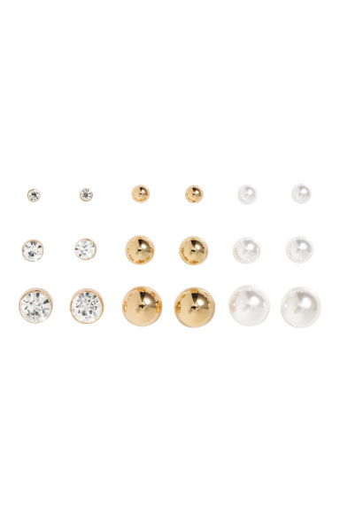 9-pack earrings - Gold - Ladies | H&M GB