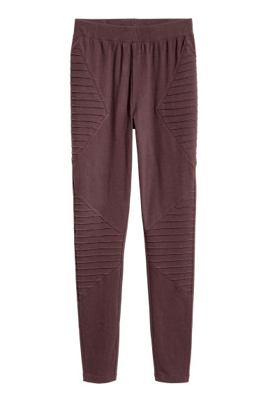 Jersey leggings - Burgundy -  | H&M