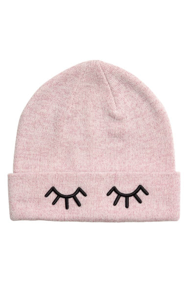 Knitted hat - Powder pink/Metallic - Ladies | H&M