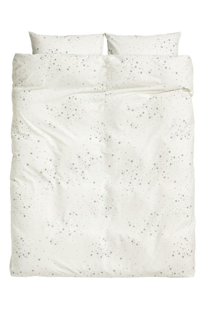 Gemusterte Bettwäsche - Grau/Sterne -   H&M AT