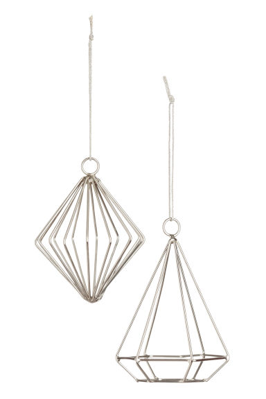 2-pack metal Christmas baubles - Silver-coloured - Home All | H&M CN