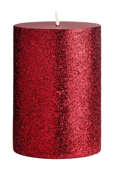 Kleine blokkaars - Bordeauxrood/glitters -  | H&M BE