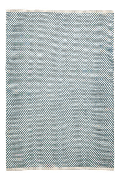 Jacquard-weave cotton rug - Turquoise -  | H&M CN