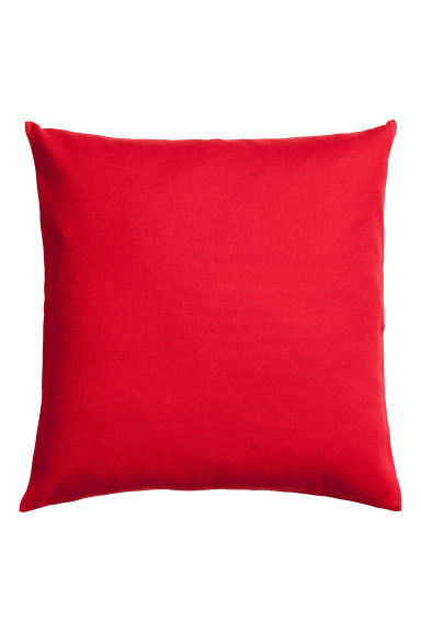 Cotton canvas cushion cover - Red - Home All | H&M IE