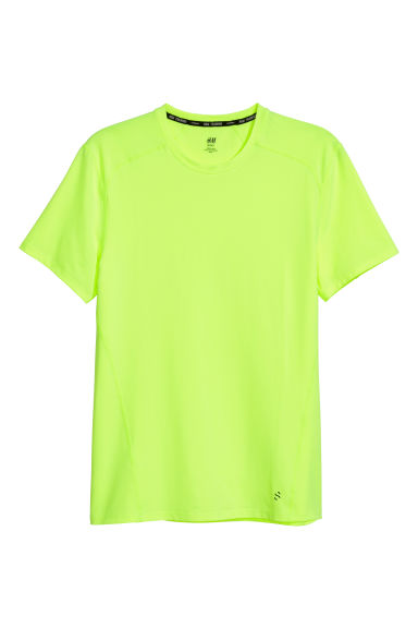 T-shirt training - Vert fluo - HOMME | H&M BE