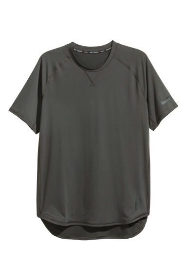 Short-sleeved sports top - Black - Men | H&M