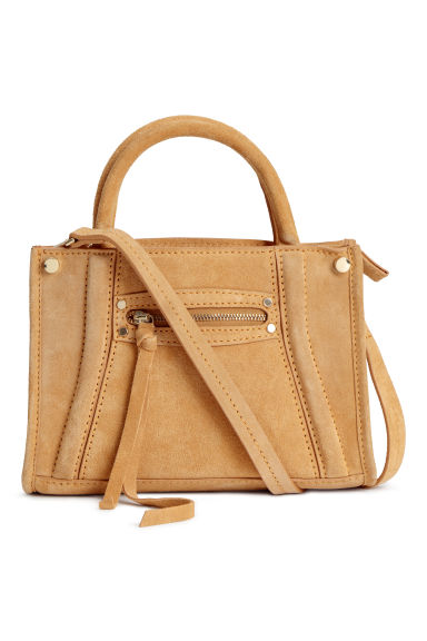 Suede shoulder bag - Mustard yellow - Ladies | H&M IE