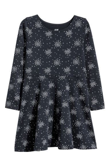 Jersey dress - Dark blue/Hearts -  | H&M CN