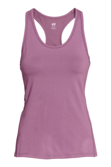 Sports vest top - Lavender purple -  | H&M