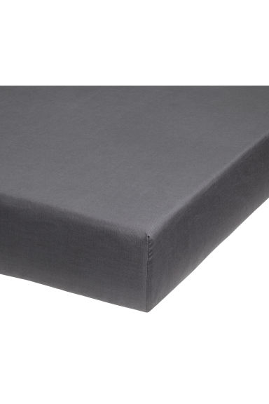 Fitted cotton sheet - Gris anthracite - HOME | H&M BE