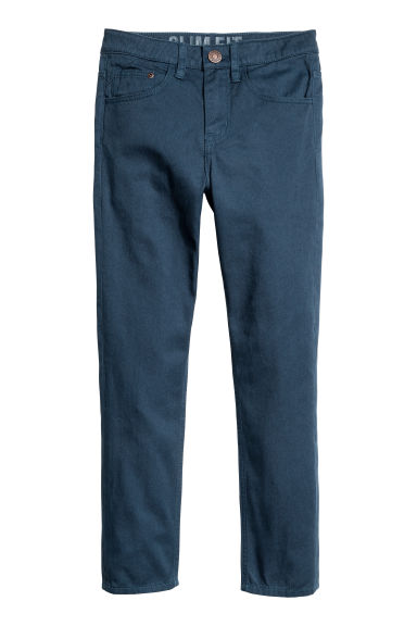Generous fit Twill trousers - Dark blue -  | H&M