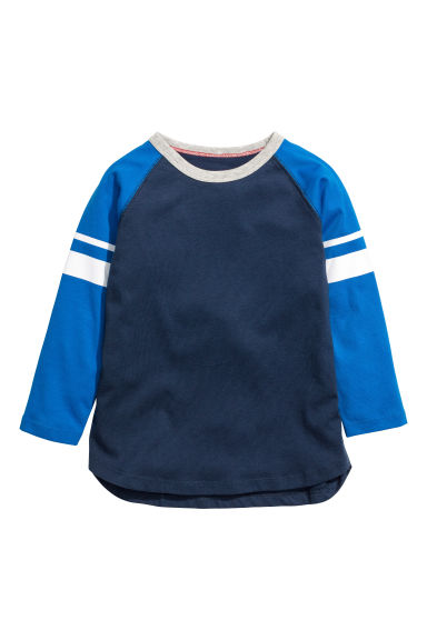 Jersey top - Dark blue/Bright blue - Kids | H&M CN