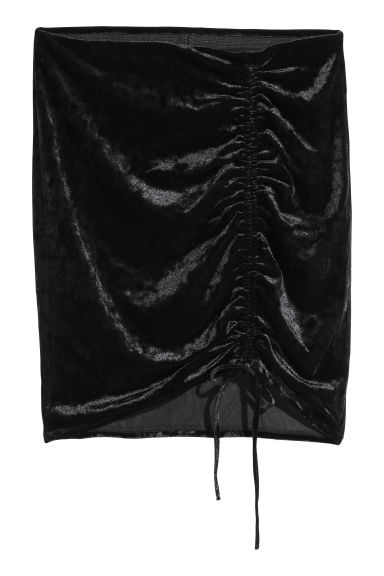 Jersey skirt - Black/Velvet - Ladies | H&M CN