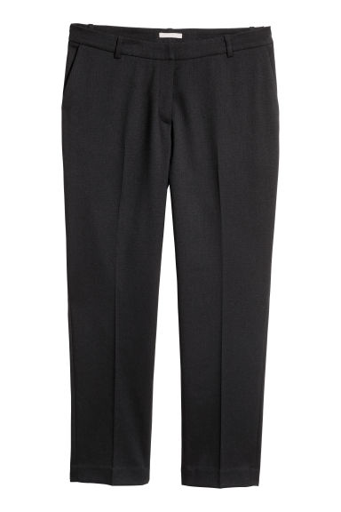 H&M+ Suit trousers - Black/Herringbone-patterned - Ladies | H&M