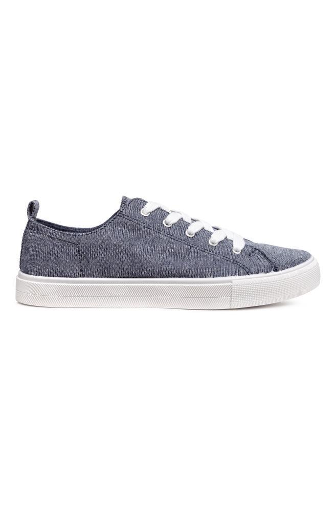1007ad13 Парусиновые кеды - Синий меланж - Женщины | H&M ...