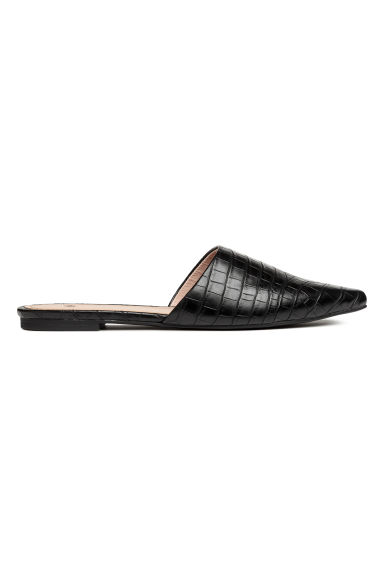 Mules - Black/Patterned -  | H&M
