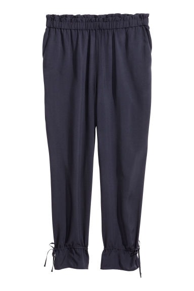 H&M+ Pull-on trousers - Dark blue - Ladies | H&M GB