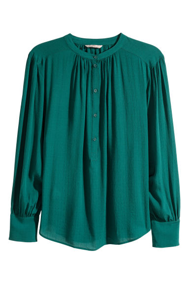 H&M+ Textured blouse - Green - Ladies | H&M