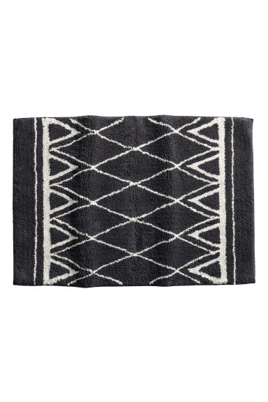 Jacquard-weave bath mat - Dark grey/Patterned - Home All | H&M GB