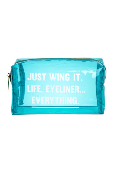 Transparent make-up bag - Turquoise - Ladies | H&M