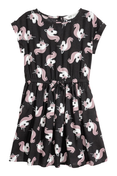 Patterned dress - Black -  | H&M CN