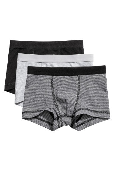3-pack boxer shorts - Black/Narrow striped - Kids | H&M