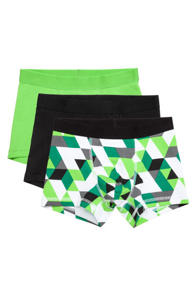 3-pack boxer shorts - Green - Kids | H&M