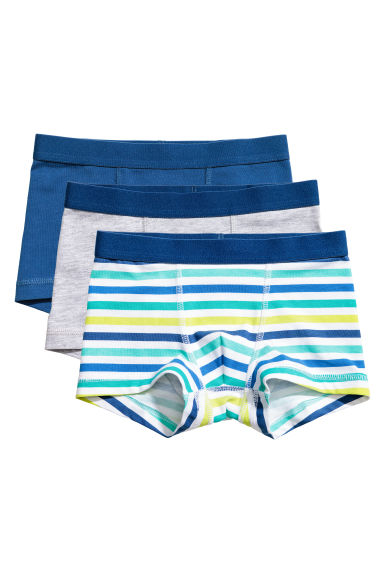 3-pack boxer shorts - Blue/Striped -  | H&M