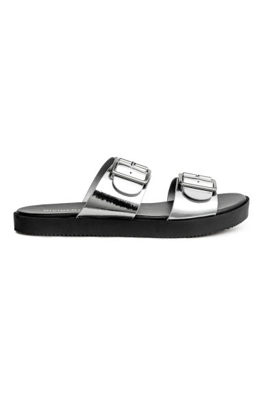 Slip-on sandals - Silver - Ladies | H&M CN
