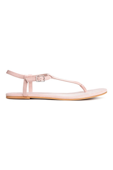 Toe-post sandals - Light pink -  | H&M CN
