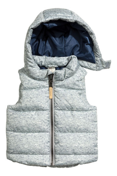 Padded gilet - Light grey marl - Kids | H&M CN