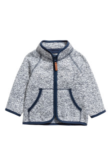 Knitted fleece jacketModel
