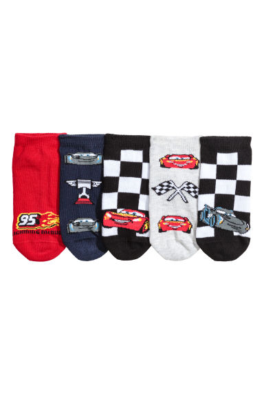 5-pack trainer socks - Red/Cars - Kids | H&M