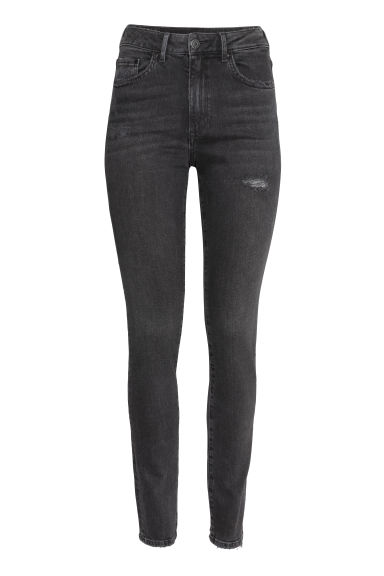 Skinny High Jeans - 黑色 - Ladies | H&M CN