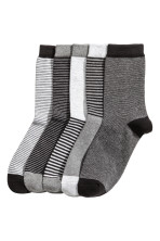 Grey marl/Striped