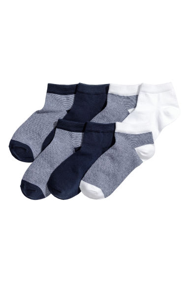 7-pack trainer socks - Dark blue -  | H&M