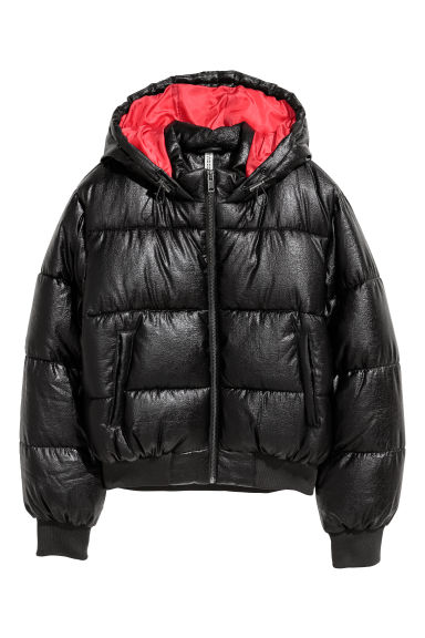 Padded jacket - Black/Red - Ladies | H&M