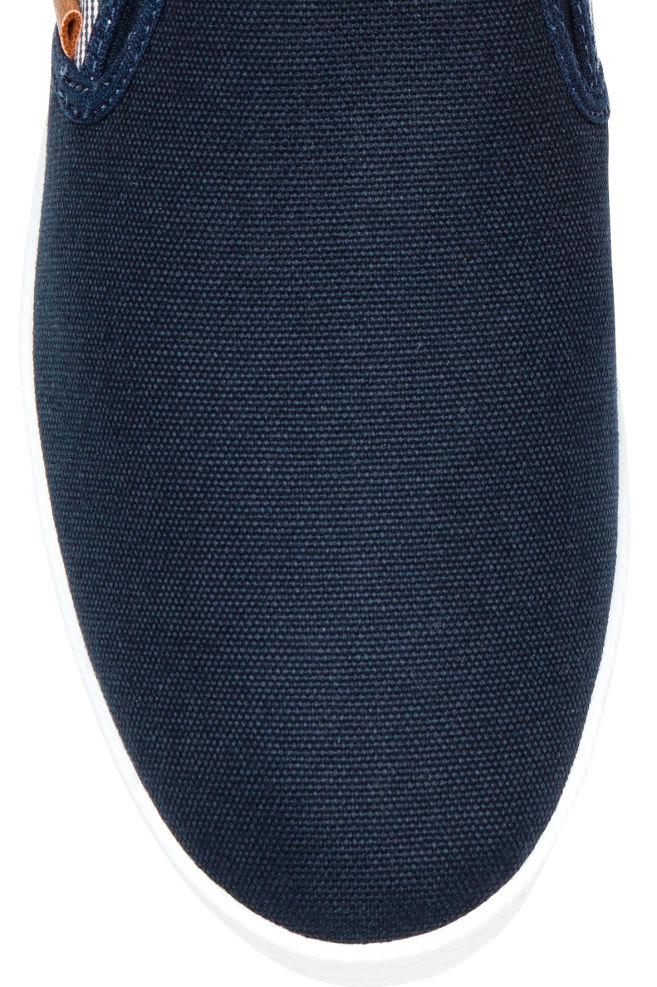 1dbe1f9e90f ... 슬립온 슈즈 - 다크 블루/스트라이프 - Men | H&M ...