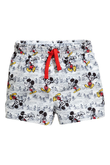 Swim shorts - White/Mickey Mouse - Kids | H&M CN