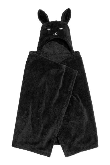 Blanket with a hood - Black -  | H&M GB