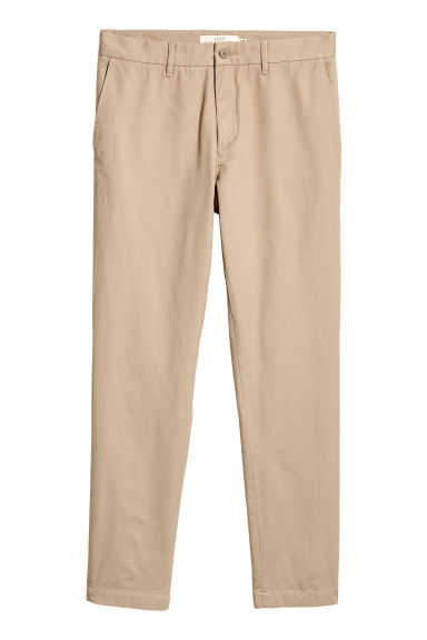 Katoenen chino - Slim fit - Beige - HEREN | H&M BE