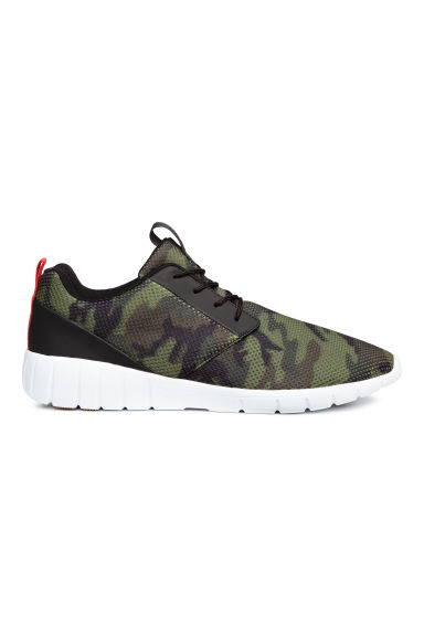 Mesh trainers - Khaki green/Patterned -  | H&M