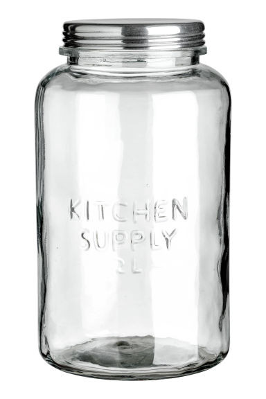 Large glass jar - Clear glass -  | H&M IE