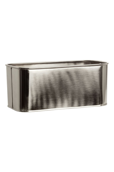 Metal storage box - Silver-coloured -  | H&M IE