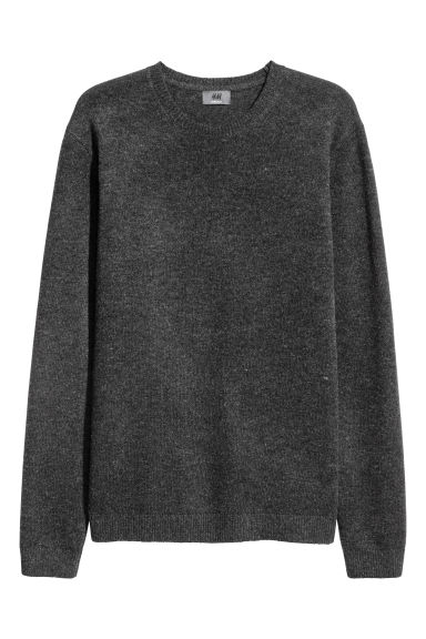 Lambswool jumper - Black marl -  | H&M IE