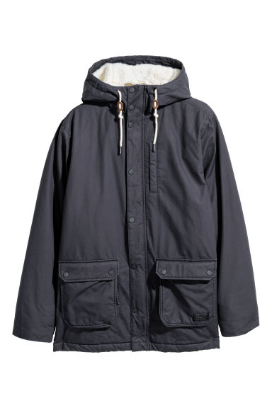 Cotton parka - Dark blue - Men | H&M