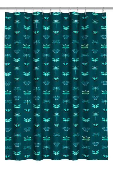 Patterned shower curtain - Dark green - Home All | H&M CN